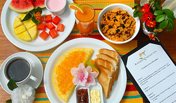 Complimentary breakfast at Boquete Garden Inn