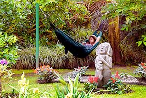 hamaca en un rincón del jardín