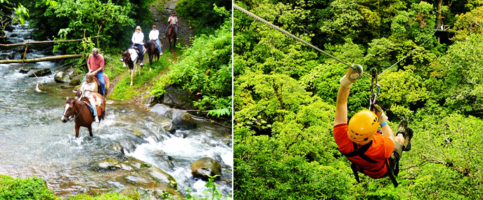 Tree Trek Boquete zipline adventure Panama horseback riding