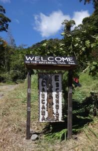 waterfall trail entrance